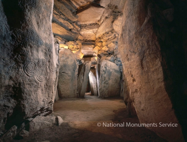 Newgrange Passage Tomb, Co. Meath, Ireland Chamber